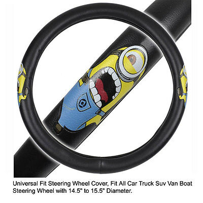 Hawaii Blue BDK Universal Fit Steering Wheel Cover Rubber