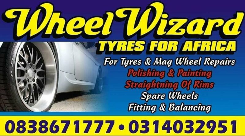 Tyres. Mag repairs. Spare wheels.call TYRES FOR AFRICA Chatsworth