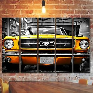 Ford Mustang 1964 Wall Art Picture Decor Painting On Canvas Vintage