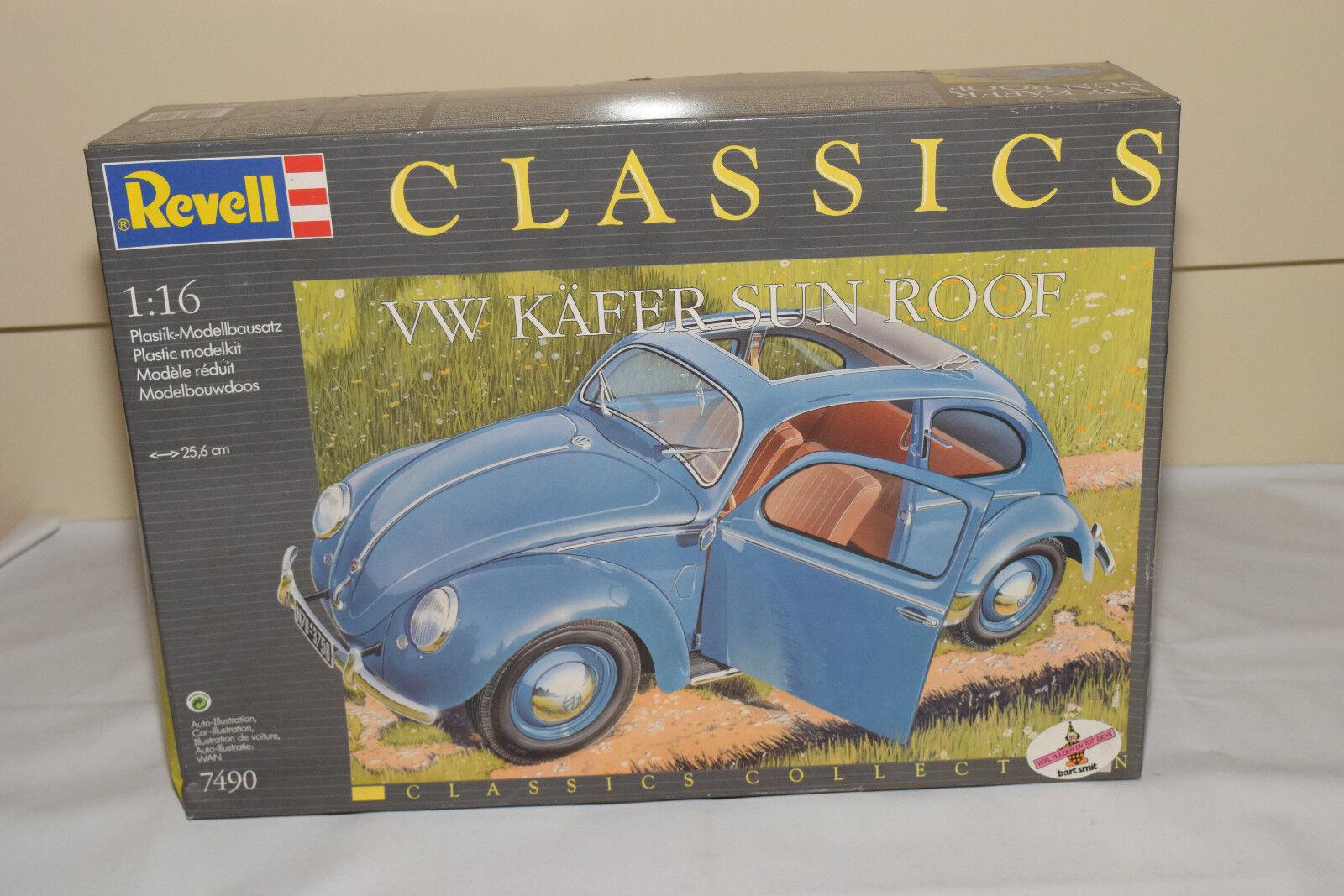 REVELL KIT 7490 VW VOLKSWAGEN BEETLE KAFER SUN ROOF MINT BOXED SEALED