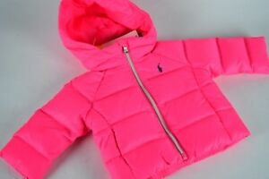 NWT! $155 Baby Infant Ralph Lauren Puffer Down Pink Jacket ...