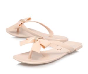 832e332cdd2ce5 Carvela Star Womens UK 7 EU 40 Nude Jelly Rubber Thong Flip Flop Bow ...