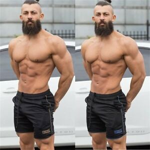 Image Is Loading Hot Men Gym Shorts Bodybuilding Training Running Shorts