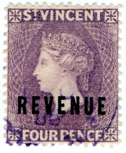I-B-St-Vincent-Revenue-Duty-Stamp-4d