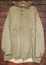 VTG WWII 1942 US ARMY 10TH MOUNTAIN REVERSIBLE FUR TRIM SKI PARKA JACKET L/XL