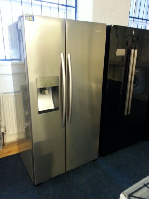 Hisense Stainless Steel American Style Fridge Freezer  - 7256