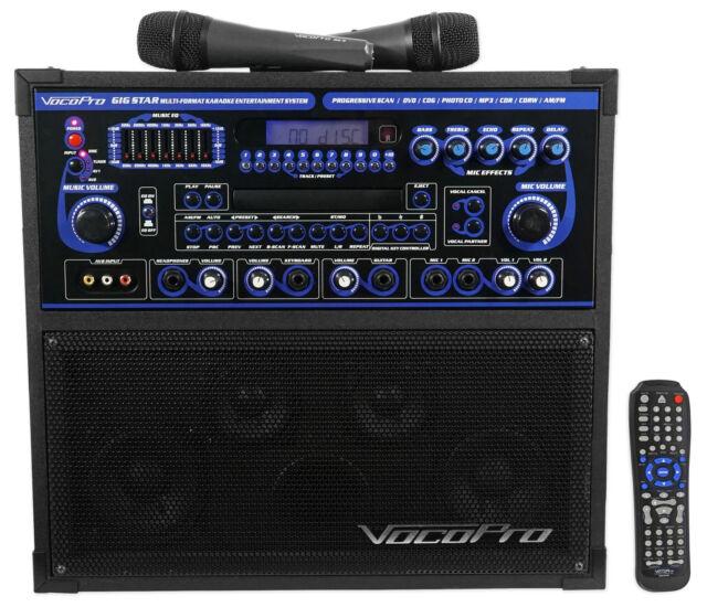 vocopro gigstar professional dvd cd 100 watt karaoke machine system for sale online ebay. Black Bedroom Furniture Sets. Home Design Ideas