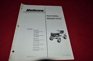 Bolens 3212H 3112HX 3214HX Suburban Tractor Dealer's Parts