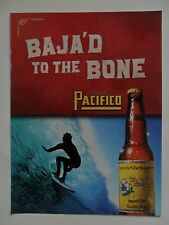 2003 Print Ad Pacifico Beer ~ Baja'd to the Bone Surfer Surfing the Big Wave