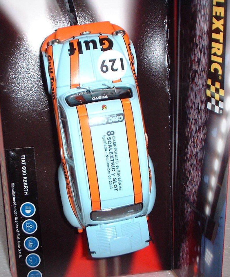6119 SCALEXTRIC FIAT ABARTH GULF 8 CTO SPAIN SCALEXTRIC SLOT IGUALADA 2003