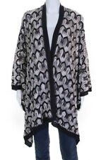 Missoni Womens Abstract Knit Large Shawl Wrap Brown
