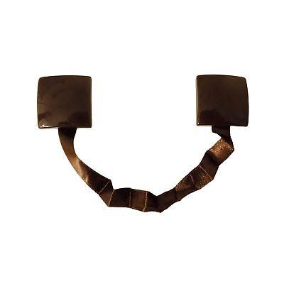 2 X MAGNETIC WOOD LOOK EASY USE CURTAIN DRAPE TIEBACKS HOLD BACKS SILVER