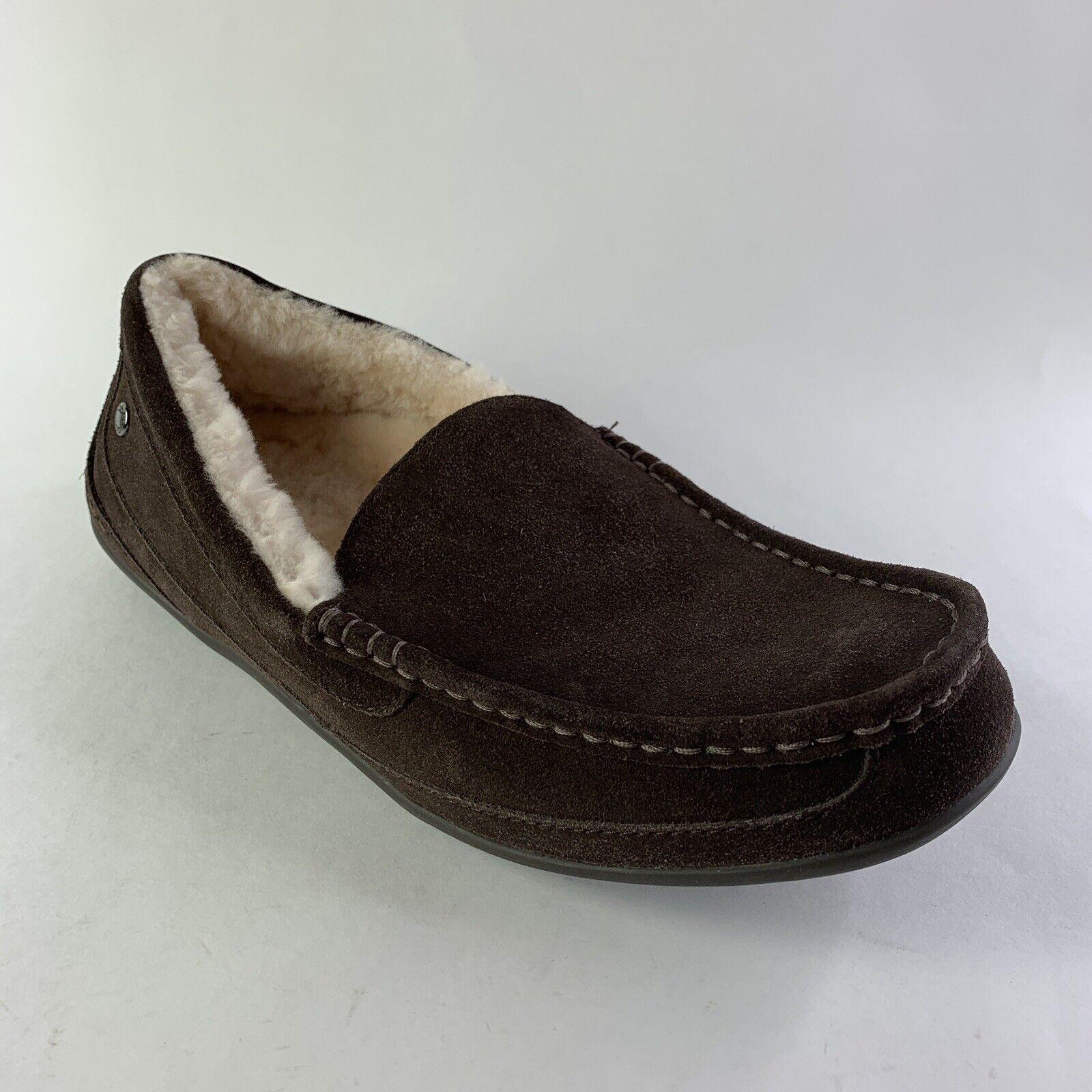 Abeo Mens B.I.O System Arden Slippers Sz  9 Neutral Sheepskin Sock Lining Brown