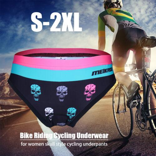 UK Women Ladies Bicycle Cycling Bike Underwear Gel 3D Padded Short Pants Shorts