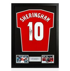 Framed-Teddy-Sheringham-Signed-Manchester-United-Shirt-Number-10-Autograph