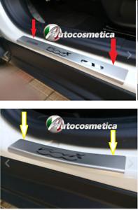 ARGENTO//cromo in acciaio inox barre di ingresso con bordatura 4tlg FIAT 500x