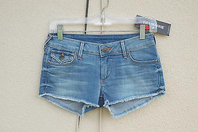 NWT TRUE RELIGION JOEY Size 26 Hot Mini Denim Short Shorts Flaps USA