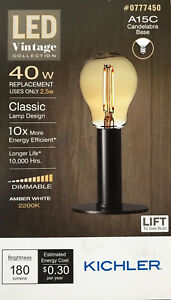 Image Is Loading Kichler Vintage Collection 40 Watt Amber White A15