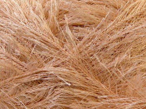 LG 100 gram Beige Eyelash Yarn Ice Fun Fur 164 Yards 22704