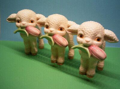 Goebel stehendes Lamm neu gemarkt Schäfchen mit Tulpe