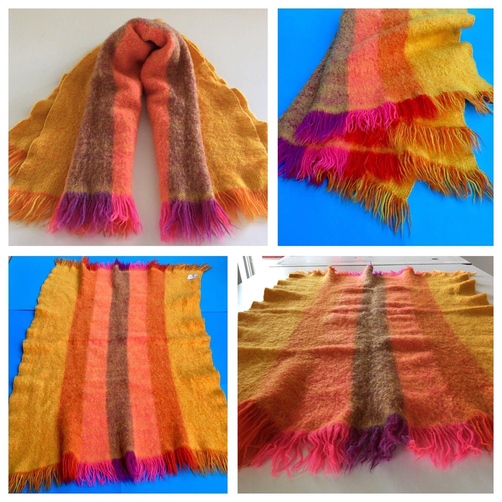 Vintage Mid-Century Finland Wool Blanket Designed by NANA SUMI 49  x 34  MCM