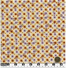 Quilting Fabric Purple Brown Splashes Dots Cream BG Fat Quarters 100% Cotton