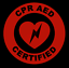 CPR-AED-Certified-Circle-Emblem-Vinyl-Decal-Window-Sticker-Car thumbnail 2