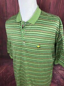 Bobby-Jones-Augusta-Masters-Men-s-Green-Striped-Golf-Polo-Shirt-Size-2XL-XXL