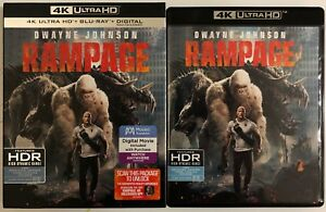 RAMPAGE-4K-ULTRA-HD-BLU-RAY-2-DISC-SET-SLIPCOVER-SLEEVE-FREE-WORLD-SHIPPING