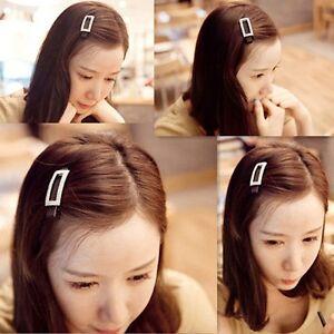 Korean-Style-Fashion-Rectangular-Crystal-Barrette-hairpin-Hair-Bangs-Side-Clip