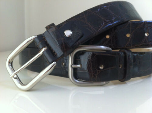 DESIGNER WITHOUT $$$$ NEW GENUINE ALLIGATOR BELT MADE IN ITALY Sizes 38 /& 40