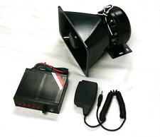 100W 12V Car Truck Siren Horn Loud Speaker Police Fire + MIC System 5 Sound Tone