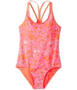 Under-Armour-Girl-039-s-Orange-Heatgear-One-piece-Swimsuit-Swimwear-10224-Size-16