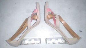 Diane Ibiza Beige Size cinghie 37 Von Furstenberg 5 Lucite Runaway Heel PPpAqrw