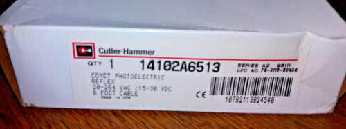 NOS Cutler Hammer Comet Photoelectric Reflex Sensor w Extension Cable 14102A6513