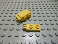 Lego 4 Scharniere Platten 1x2 gelb 2 Finger  4276 Set 6662 5561 4543 8034