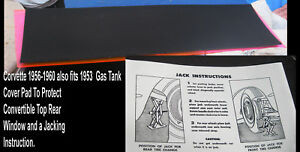 Corvette-Parts-1962-1961-1960-1959-1958-1957-1956-1955-1953-Mohair-Gas-Tank-Felt