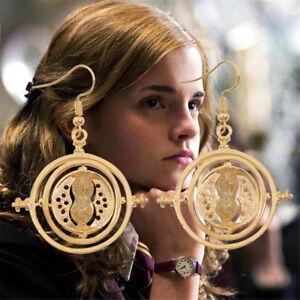 Vogue-Harry-Potter-Ear-Stud-Time-Turner-Vintage-Rotating-Hourglass-Earrings-Hook