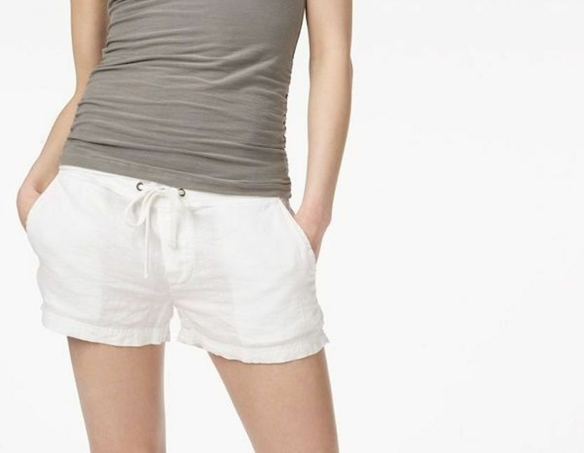 JAMES PERSE Safari LINEN DRAWSTRING Casual Shorts WHITE Sz 1 2 3 & 4 WDTT4158CU