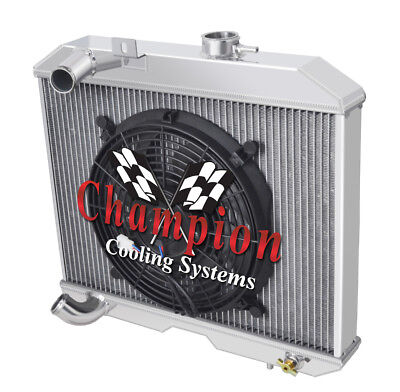 1941-1952 Willy/'s CJ-2A Aluminum 3 Row Champion Radiator