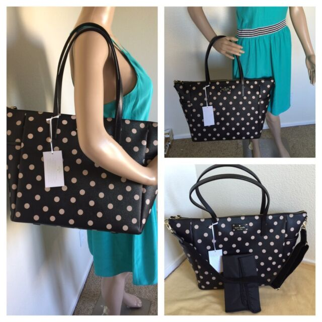 Nwt Kate Spade Wellesley Leather Printed Adaira Diaper Baby Bag Wkru3862