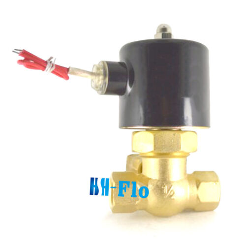 "HSH-Flo 2 Way 1//2/"" BSP Brass Pilot Piston Water Steam Electric Solenoid Valve"