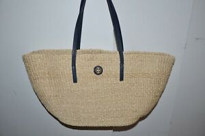 Details About Nwt Tory Burch Straw Beach Tote Shoulder Bag Purse Scarpbook Satchel