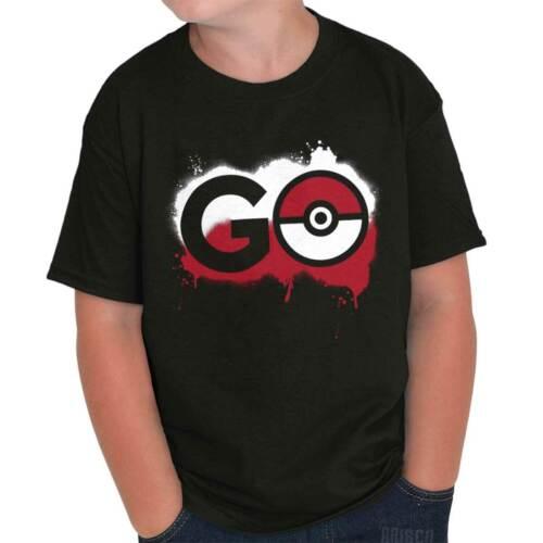 Pokemon Go Gamer Shirt Cute Cool Gift Idea Pokeball Pikachu Youth Tee Shirt T