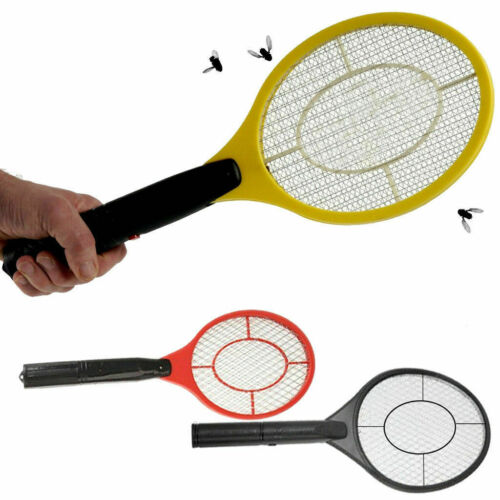 BUG ZAPPER RACKET ELECTRONIC MOSQUITO FLY SWATTER INSECTS ELECTRIC HANDHELD