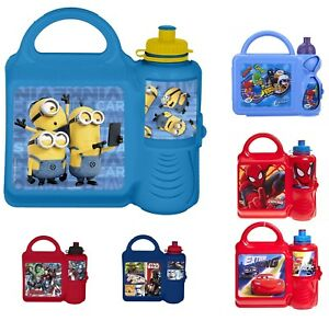 Combo-Set-Tiffin-lunch-Sandwich-Box-Sports-Water-School-Travel-Picnic-Kids-3-y