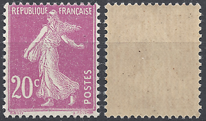 FRANCE-TIMBRE-TYPE-SEMEUSE-N-190-NEUF-LUXE-GOMME-D-039-ORIGINE-MNH