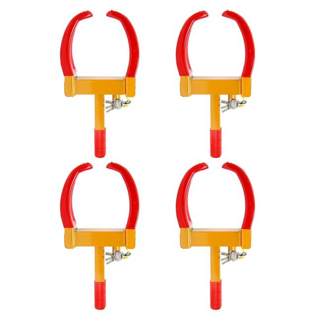4x Wheel Lock Clamp Boot Tire Claw Auto Car Truck Boat Trailer Anti-theft Towing