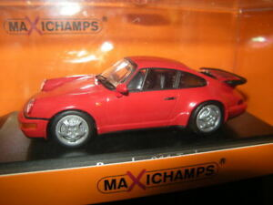 1-43-maxichamps-Porsche-911-turbo-tipo-964-1990-red-rojo-n-940069102-OVP