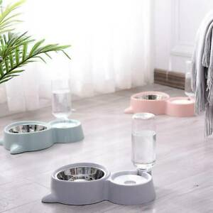Automatic-Pet-Feeder-Cat-Dog-Food-Dispenser-amp-Water-Fountain-Drink-Bowl-Dish